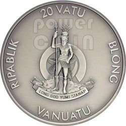 RACCOON Forest Animals Silver Coin 1/2 oz 20 Vatu Vanuatu 2013