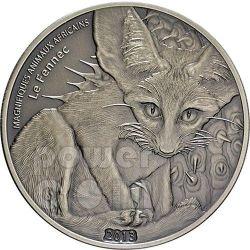 FENNEC FOX Volpe Del Deserto Moneta Argento 1 oz 1000 Franchi Niger 2013