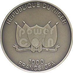 FENNEC FOX Silver Coin 1 oz 1000 Francs Niger 2013