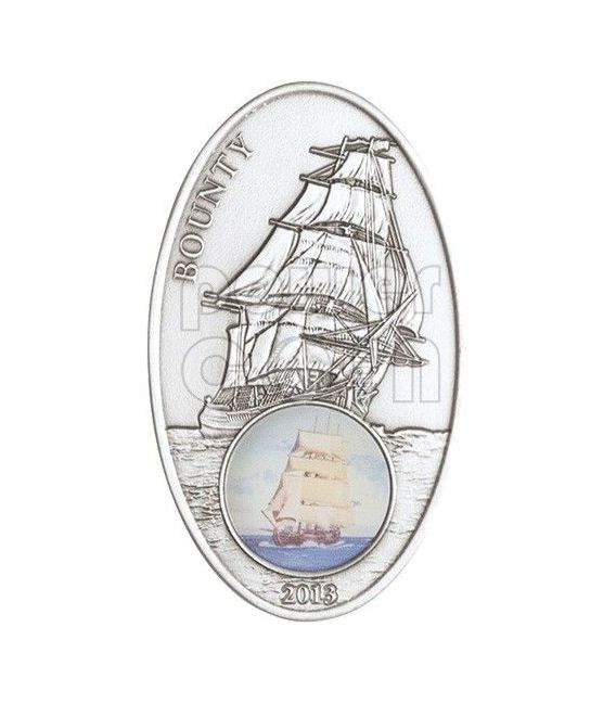 BOUNTY Sail Ship Legend Moneta Argento 1000 Francs Benin 2013