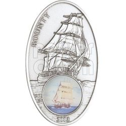 BOUNTY Sail Ship Legend Windows Moneda Plata 1000 Francs Benin 2013