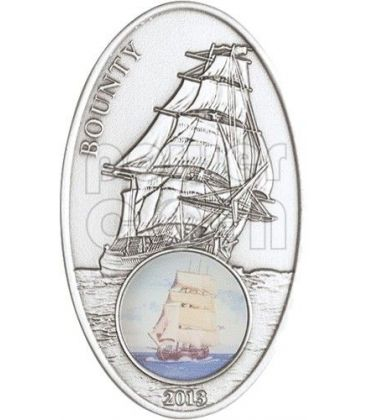 BOUNTY Sail Ship Legend Windows Silver Coin 1000 Francs Benin 2013
