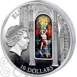 WINDOWS OF HEAVEN MILAN Milano Duomo Cathedral Silver Coin 10$ Cook Islands 2013