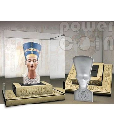 NEFERTITI 3D Sculptures Of Art Regina Egitto Moneta Argento 3oz 25$ Isole Salomone 2013