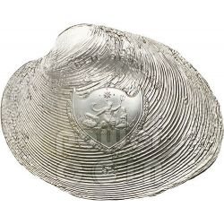 CYRTONAIAS TAMPICOENSIS PERLA Pearl Ologramma Convessa Moneta Argento 5$ Palau 2013