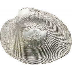 CYRTONAIAS TAMPICOENSIS Shells of the Sea Hologram Convex Moneda Plata 5$ Palau 2013
