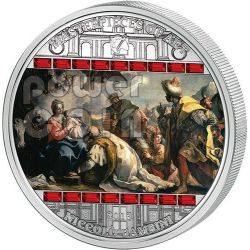 ADORATION OF KINGS Niccolo Bambini Masterpieces Of Art 3 Oz Silver Coin 20$ Cook Islands 2013