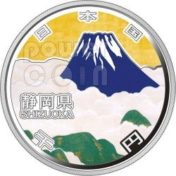SHIZUOKA 47 Prefectures (30) Plata Proof Moneda 1000 Yen Japan Mint 2013