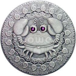 CANCER Horoscope Zodiac Swarovski Серебро Монета Белоруссия 2009