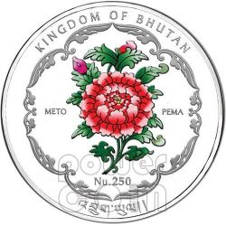 MAHABODHI TEMPLE India Buddha World Heritage Серебро Монета Бутан 2012