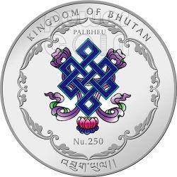 THOUSAND HAND BODHISATTVA Buddha World Heritage Silber Münze Bhutan 2013