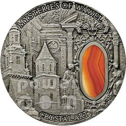 MYSTERIES OF WAWEL Castello Reale Cattedrale Crystal Art Moneta Argento 2 Oz 2$ Niue 2013