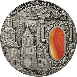 MYSTERIES OF WAWEL Royal Castle Cathedral Crystal Art 2 Oz Moneda Plata 2$ Niue 2013