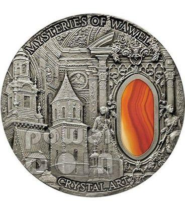 MYSTERIES OF WAWEL Castello Reale Cattedrale Crystal Art Moneta Argento 2 Oz 2$ Niue 2013