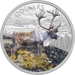 RENNA CANADESE Caribou Moneta Argento 20$ Canada 2014