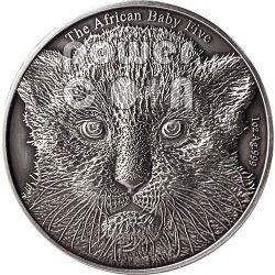 BABY LEOPARD African Baby Five 1 Oz Серебро Монета 5000 Франков Бурунди 2014