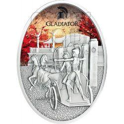 GLADIATRIX Female Gladiator Roman Empire Silver Coin 1 Oz 10$ Fiji 2013