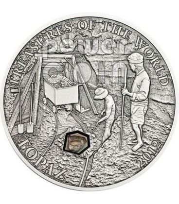 TOPAZ Treasures Of The World Silver Coin 5$ Palau 2012
