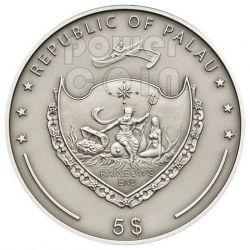 TOPAZ Treasures Of The World Silber Münze 5$ Palau 2012
