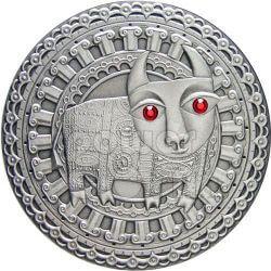 TAURUS Horoscope Zodiac Swarovski Silver Coin Belarus 2009