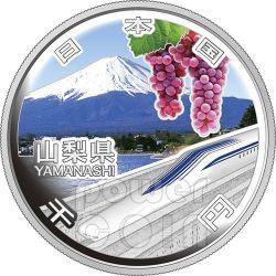 YAMANASHI 47 Prefectures (31) Silber Proof Münze 1000 Yen Japan Mint 2013