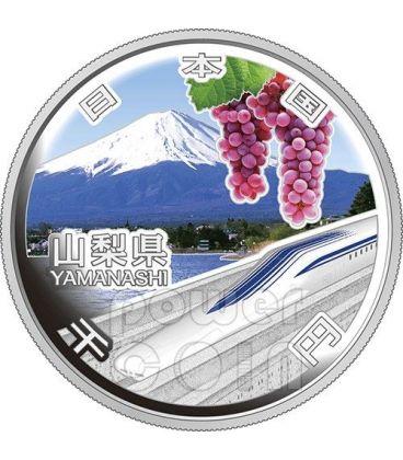 YAMANASHI 47 Prefetture (31) Moneta Argento 1000 Yen Giappone 2013