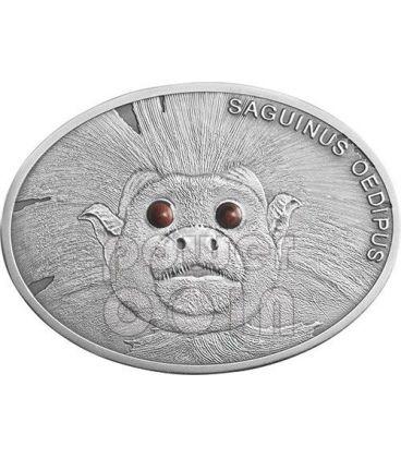 COTTON TOP TAMARIN Lisztaffe Fascinating Wildlife Silver Coin 10$ Fiji 2013