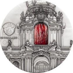 TIFFANY ART BAROQUE DRESDEN 1 Kg Kilo Серебро Монета 50$ Палау 2014