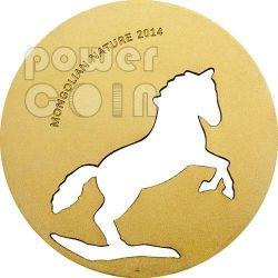 MONGOLIAN HORSE Nature Moneda Plata 500 Togrog Mongolia 2014