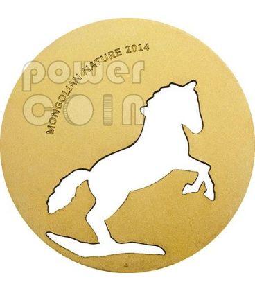 MONGOLIAN HORSE Nature Silver Coin 500 Togrog Mongolia 2014