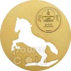 MONGOLIAN HORSE Nature Silber Münze 500 Togrog Mongolia 2014