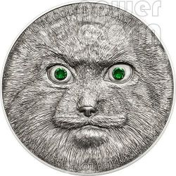 MANUL Pallas Cat Wildlife Protection Silver Coin 500 Togrog Mongolia 2014