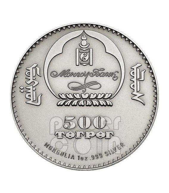 MANUL Pallas Cat Wildlife Protection Silber Münze 500 Togrog Mongolia 2014