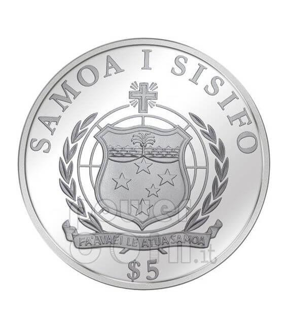 GIOVANNI PAOLO II BEATO Miracolo Papa Moneta Argento 5$ Samoa 2009