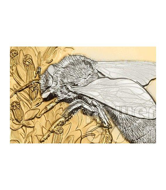 APE Bee Shades of Nature Moneta Argento 5$ Cook Islands 2014