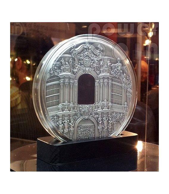 TIFFANY ART BAROQUE DRESDEN 1 Kg Kilo Moneda Plata 50$ Palau 2014