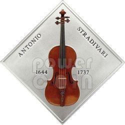 STRADIVARIUS LADY BLUNT Violin Antonio Stradivari Wood Silber Münze 1$ Niue 2014