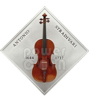 STRADIVARIUS LADY BLUNT Violin Antonio Stradivari Wood Silver Coin 1$ Niue 2014
