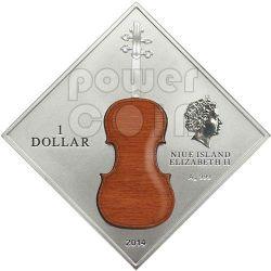STRADIVARIUS LADY BLUNT Violino Antonio Stradivari Legno Moneta Argento 1$ Niue 2014