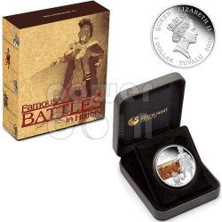 CANNAE Battle 216 BC Moneda Plata 1$ Tuvalu 2009