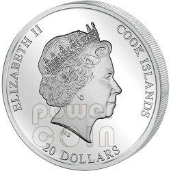 PIETA Michelangelo Buonarroti Masterpieces Of Art 3 Oz Серебро Золото Монета 20$ Острова Кука 2014