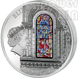 WINDOWS OF HEAVEN BASILICA SACRE COEUR Sacred Heart Montmartre Paris Silber Münze 10$ Cook Islands 2014