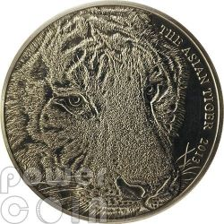 TIGRE ASIATICA Asian Tiger Moneta Argento 1 Oz 1$ Tokelau 2013