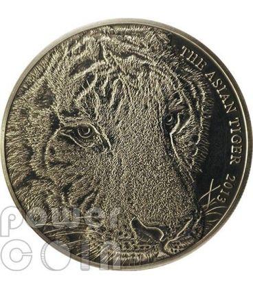 ASIAN TIGER Panther 1 Oz Silver Coin 1$ Tokelau 2013