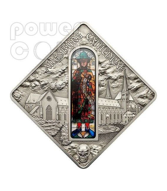 DUOMO DI AUGUSTA Augsburg Cathedral Holy Windows Moneta Argento 10$ Palau 2012