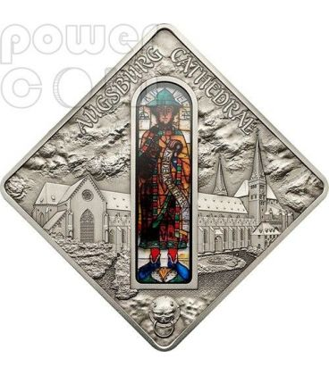 AUGSBURG CATHEDRAL Holy Windows Silver Coin 10$ Palau 2012