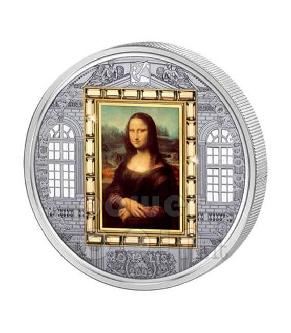 MONA LISA Leonardo Da Vinci Silver Gold Coin 20$ Cook Islands 2009
