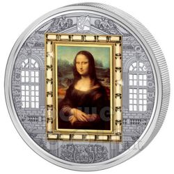 MONA LISA Leonardo Da Vinci Silver Gold Coin 20$ Cook Islands 2009