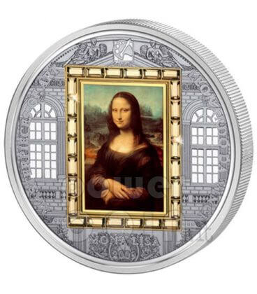 MONA LISA Leonardo Da Vinci Moneta Argento Oro 20$ Cook Islands 2009