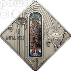 AUGSBURG CATHEDRAL Holy Windows Серебро Монета 10$ Палау 2012